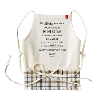 Be Strong Bible Verse Zazzle HEART Apron
