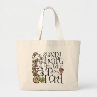 Be Strong - Book Bag Jumbo Tote Bag