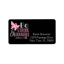 Be Strong Breast Cancer Awareness Address Labels