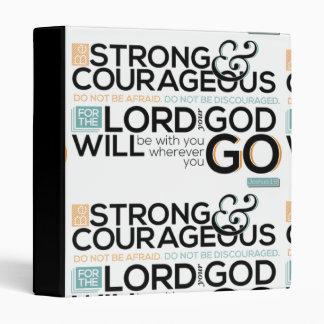 Be Strong & Courageous Joshua 1:9 3 Ring Binder