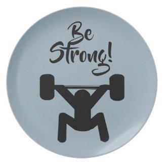 Be Strong Dinner Plate