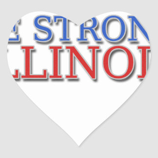 Be Strong Illinois Heart Sticker