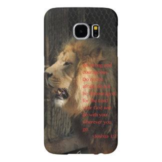 """""""Be strong"""" Joshua 1:9 Samsung Galaxy S6 Case"""