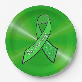"""""""Be Strong"""" Lyme Disease Awareness Party Plates"""