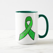"""Be Strong"" Lyme Disease Awareness Ribbon Coffee Mug"