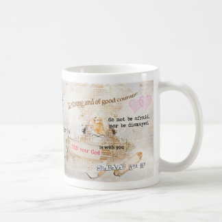 Be strong classic white coffee mug