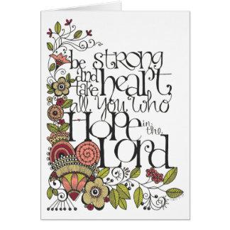 Be Strong - Prayer Card