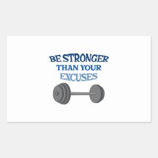 BE STRONGER RECTANGULAR STICKER