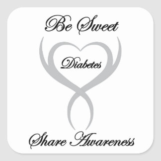 Be Sweet Share Awareness Diabetes Square Sticker