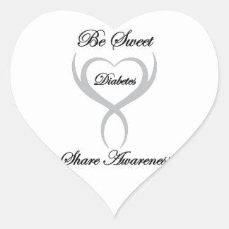 Be Sweet Share Awareness Diabetes Heart Sticker