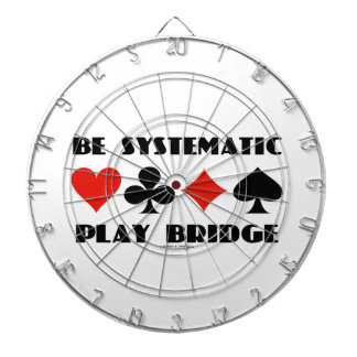 Be Systematic Play Bridge (Four Card Suits) Dartboard