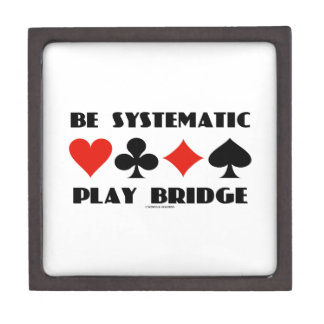 Be Systematic Play Bridge (Four Card Suits) Gift Box