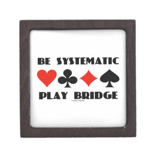 Be Systematic Play Bridge (Four Card Suits) Jewelry Box