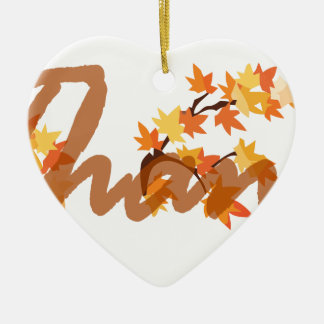be thankful ceramic ornament