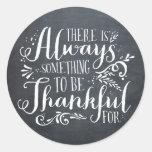 Be Thankful Chalkboard Thanksgiving Sticker