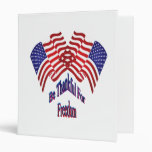 Be Thankful For Freedom Vinyl Binder