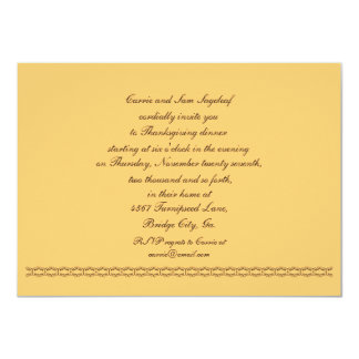 Be Thankful for Vegetables Food Vegetarian 4.5x6.25 Paper Invitation Card