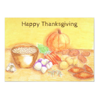 Be Thankful for Vegetables Single Page Greeting Card