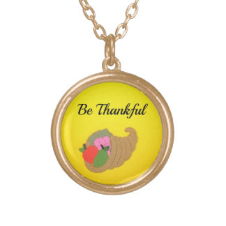 Be Thankful Gold Plated Necklace