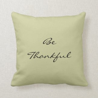 Be thankful pillow