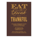 BE THANKFUL | THANKSGIVING DINNER INVITATION