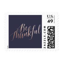 BE THANKFUL thanksgiving postage stamp