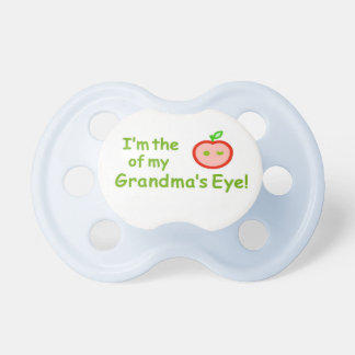 """Be the """"apple of Grandma's eye"""" with these! Pacifier"""