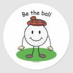 Be the Ball Round Sticker