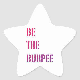 Be The Burpee - Pink Purple Gradient Star Sticker