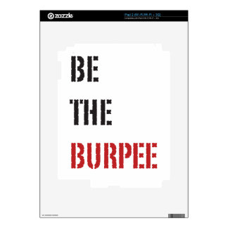Be The Burpee - Red and Black Skins For The iPad 2