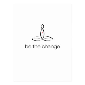 Be The Change - Black Regular style Postcard