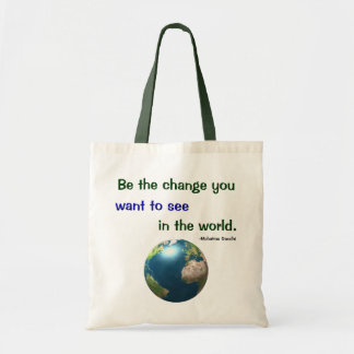 Be the Change Canvas Bags