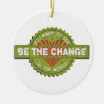 Be the Change Christmas Tree Ornaments