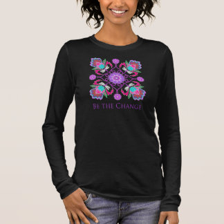 Be the Change - Dragonfly and lotus flower shirt
