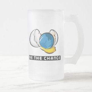 Be The Change Earth Day Frosted Glass Beer Mug