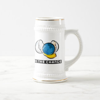Be The Change Earth Day 18 Oz Beer Stein
