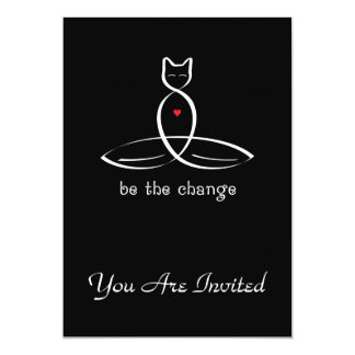 Be The Change - Fancy style text. Card