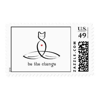 Be The Change - Fancy style text. Postage