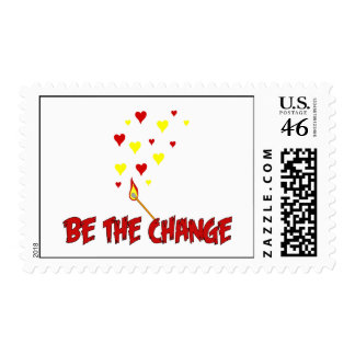 Be The Change Flame Stamp