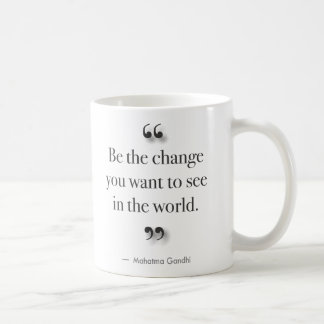 Be The Change - for left-handed drinkers Coffee Mugs