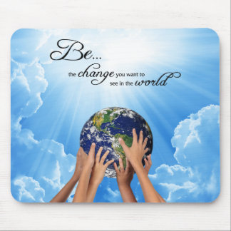 Be the Change - Gandhi Mouse Pad