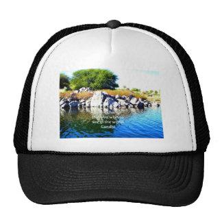 Be The Change Gandhi Wisdom Quotation Trucker Hat