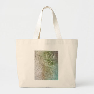 Be The Change- Ghandi quote Bags