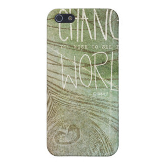 Be The Change- Ghandi quote Case For iPhone SE/5/5s