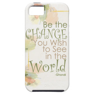 Be the change Ghandi quote Case iPhone 5 Covers