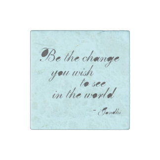 Be the Change Stone Magnet