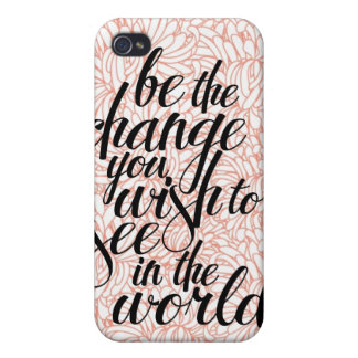 Be the Change iPhone Case iPhone 4/4S Case