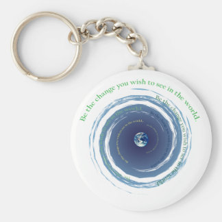Be The Change Keychain