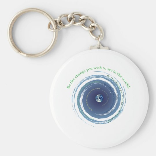 Be The Change Keychain