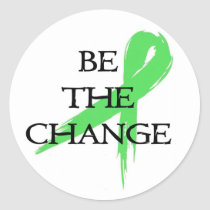 Be the Change - Mental Health Awareness Month Classic Round Sticker